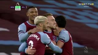 GOLO! West Ham, J. Bowen aos 46', West Ham 2-1 Aston Villa