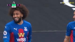 GOLO! Crystal Palace, J. Riedewald aos 8', Fulham 0-1 Crystal Palace