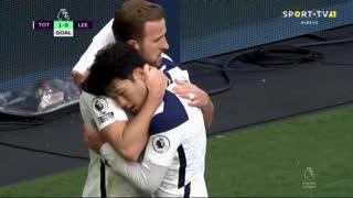 GOLO! Tottenham, H. Kane aos 29', Tottenham 1-0 Leeds United