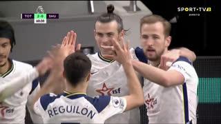 GOLO! Tottenham, G. Bale aos 61', Tottenham 2-0 Sheffield United