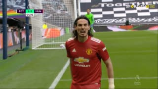 GOLO! Man. United, E. Cavani aos 79', Tottenham 1-2 Man. United