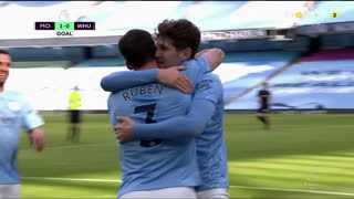 GOLO! Man. City, Rúben Dias aos 30', Man. City 1-0 West Ham