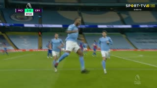 GOLO! Man. City, R. Sterling aos 88', Man. City 4-0 Crystal Palace