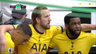 GOLO! Tottenham, H. Kane aos 34', Newcastle 1-2 Tottenham