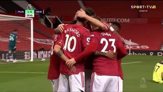 GOLO! Man. United, M. Rashford aos 30', Man. United 1-0 Newcastle