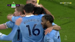 GOLO! Man. City, I. Gündogan aos 14', Man. City 1-0 Newcastle