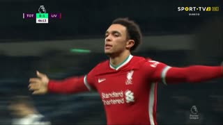GOLO! Liverpool, T. Alexander-Arnold aos 47', Tottenham 0-2 Liverpool