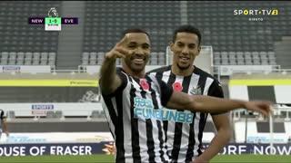 GOLO! Newcastle, C. Wilson aos 84', Newcastle 2-0 Everton