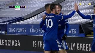 GOLO! Leicester City, J. Vardy aos 41', Leicester City 2-0 Brighton