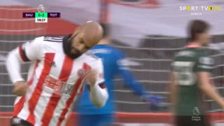 GOLO! Sheffield United, D. McGoldrick aos 59', Sheffield United 1-2 Tottenham