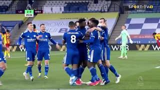 GOLO! Leicester City, J. Evans aos 26', Leicester City 2-0 West Bromwich Albion
