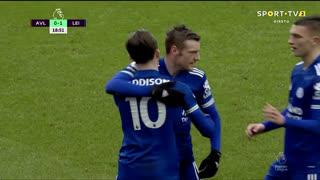 GOLO! Leicester City, J. Maddison aos 19', Aston Villa 0-1 Leicester City