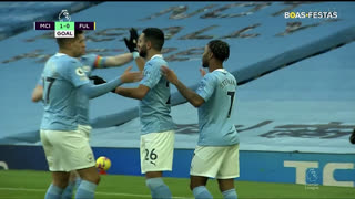 GOLO! Man. City, R. Sterling aos 5', Man. City 1-0 Fulham
