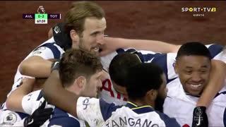 GOLO! Tottenham, H. Kane aos 68', Aston Villa 0-2 Tottenham