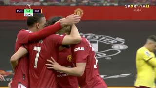 GOLO! Man. United, E. Cavani aos 90'+3', Man. United 3-1 Burnley