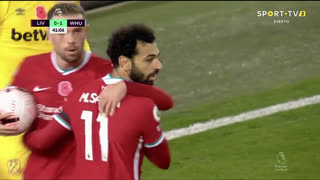 GOLO! Liverpool, Mohamed Salah aos 42', Liverpool 1-1 West Ham