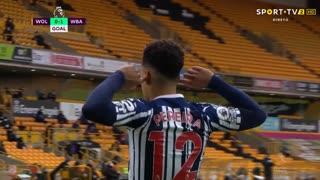 GOLO! West Bromwich Albion, Matheus Pereira aos 8', Wolverhampton 0-1 West Bromwich Albion