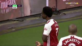 GOLO! Arsenal, B. Saka aos 56', Arsenal 3-0 Chelsea