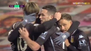 GOLO! Aston Villa, B. Traoré aos 58', Man. United 1-1 Aston Villa