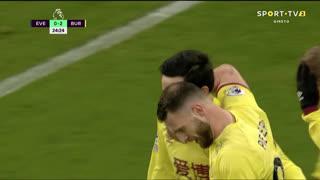 GOLO! Burnley, D. McNeil aos 25', Everton 0-2 Burnley