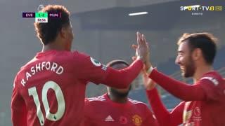 GOLO! Man. United, Bruno Fernandes aos 32', Everton 1-2 Man. United