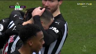 GOLO! Newcastle, M. Almirón aos 45'+4', Newcastle 3-1 Southampton