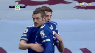 GOLO! Leicester City, H. Barnes aos 23', Aston Villa 0-2 Leicester City