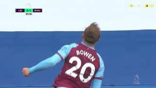 GOLO! West Ham, J. Bowen aos 83', Leicester City 0-3 West Ham