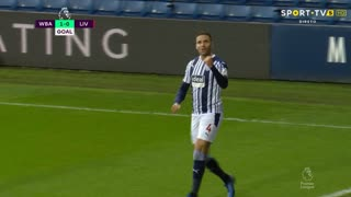 GOLO! West Bromwich Albion, H. Robson-Kanu aos 15', West Bromwich Albion 1-0 Liverpool