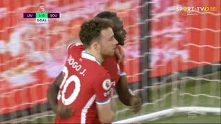 GOLO! Liverpool, S. Mané aos 31', Liverpool 1-0 Southampton