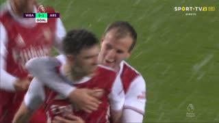 GOLO! Arsenal, K. Tierney aos 23', West Bromwich Albion 0-1 Arsenal
