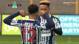 GOLO! West Bromwich Albion, Matheus Pereira aos 56', Wolverhampton 2-3 West Bromwich Albion