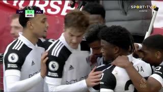 GOLO! Fulham, M. Lemina aos 45', Liverpool 0-1 Fulham