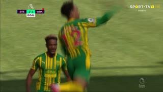GOLO! West Bromwich Albion, Matheus Pereira aos 47', Everton 2-2 West Bromwich Albion