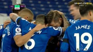 GOLO! Everton, G. Sigurdsson aos 62', Everton 2-1 Tottenham
