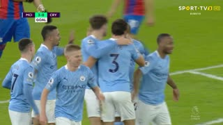 GOLO! Man. City, J. Stones aos 68', Man. City 3-0 Crystal Palace