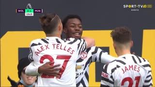 GOLO! Man. United, Elanga aos 13', Wolverhampton 0-1 Man. United