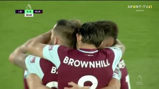 GOLO! Burnley, C. Wood aos 10', Leicester City 0-1 Burnley