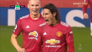 GOLO! Man. United, E. Cavani aos 39', Man. United 4-0 Southampton