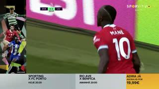 GOLO! Liverpool, S. Mané aos 3', Everton 0-1 Liverpool