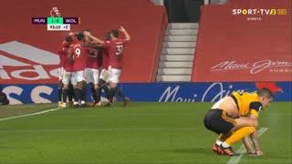 GOLO! Man. United, M. Rashford aos 90'+3', Man. United 1-0 Wolverhampton