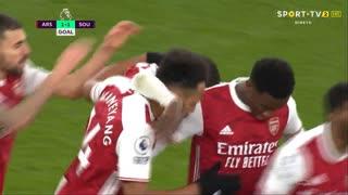 GOLO! Arsenal, P. Aubameyang aos 52', Arsenal 1-1 Southampton