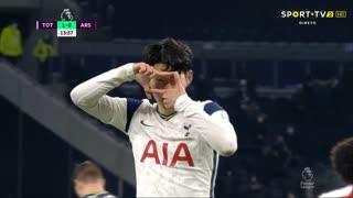 GOLO! Tottenham, Heung-Min Son aos 13', Tottenham 1-0 Arsenal