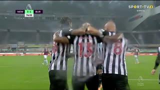 GOLO! Newcastle, C. Wilson aos 77', Newcastle 3-1 Burnley