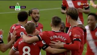 GOLO! Southampton, J. Bednarek aos 23', Southampton 1-0 Man. United