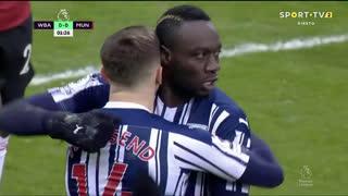 GOLO! West Bromwich Albion, M. Diagne aos 2', West Bromwich Albion 1-0 Man. United