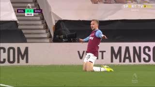 GOLO! West Ham, J. Bowen aos 38', Wolverhampton 0-3 West Ham