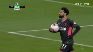 GOLO! Liverpool, Mohamed Salah aos 60', Aston Villa 5-2 Liverpool