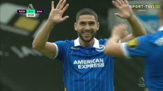GOLO! Brighton, N. Maupay aos 7', Newcastle 0-2 Brighton