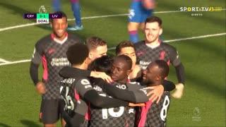 GOLO! Liverpool, T. Minamino aos 3', Crystal Palace 0-1 Liverpool